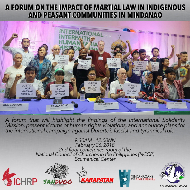 Forum on the impact of martial law